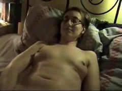 Slovenian nerd girl toying