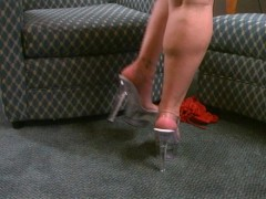 Stripper Heels Strutting Her Stuff