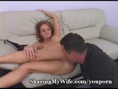 Hubby Jerks Off Watching Wife Bang Friend