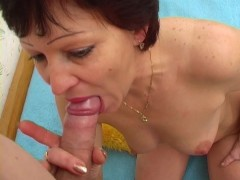 Older lady still likes to suck cock