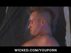 BIG TIT BLONDE PORNSTAR FUCKS OUTDOORS WHILE CAMP
