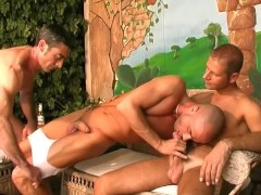 Threesome jacking off together - All Male Studio