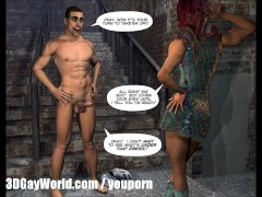 DRAG QUEENS FROM OUTER SPACE Scifi 3D Gay Toon Anime Comics Cartoon Art