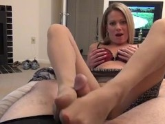 Hot Mom Helps Son Cum