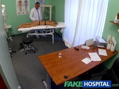 FakeHospital Surprise creampie for girl with small pussy and nice ass