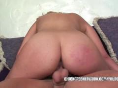 Blonde slut Katie Summers gets her wet twat dicked hard