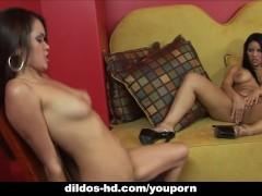 Daisy Marie and Helena Heirres have wild lezbo fun