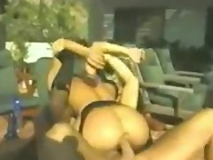 horny asian babe with nice ass rides her bf's huge hard cock!!