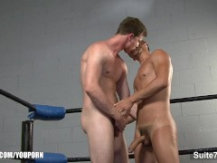 Gay athletes lick and fuck their asses