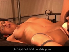 Isabella orgasmed by her Master magic wand
