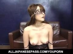 Karen Miyajima is well fucked in mouth and between hairy labia