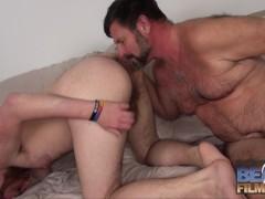 Hairy daddy Chris Mine Pounds Colt Cox Raw