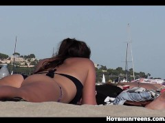 Sexy Bikini Beach Girls Voyeur Video HD