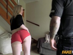 Fake Cop Pole dance slut fucks uniformed cop