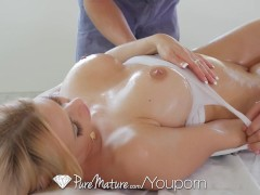 PureMature - Rachel Roxxx well lubed ass and boobs massaged