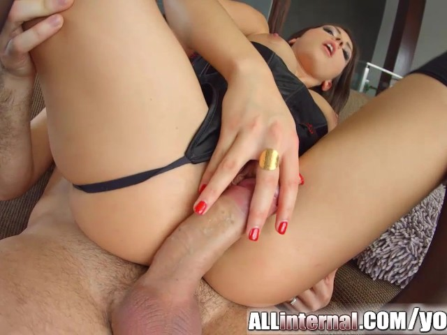 All internal epic anal creampie for french beauty 7