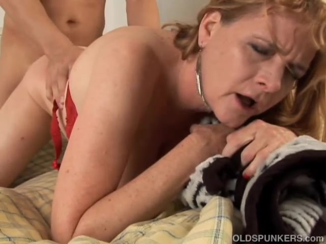 image Busty mature violette fucked by 2 boys