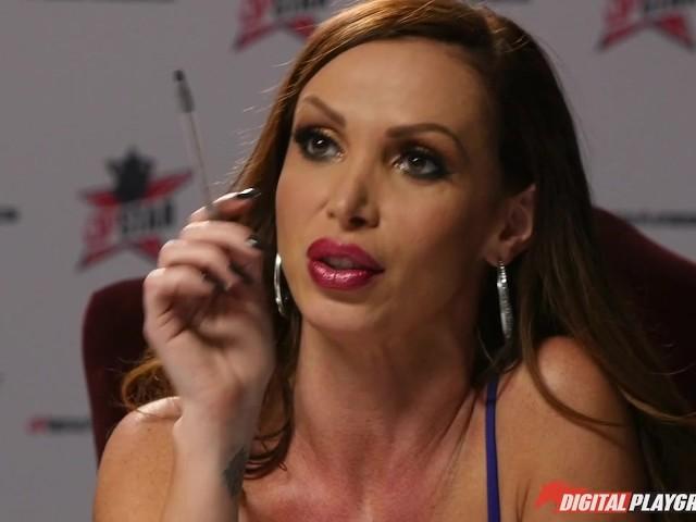 DP Star 3 - Hot Ebony Former Model Ana Foxx Deep Throat Blowjob