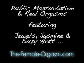 Public masturbation orgasms...