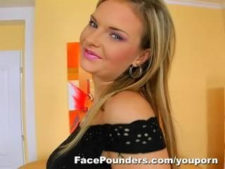 Blond czech girl with...