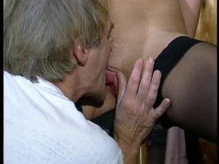 German milf swallows