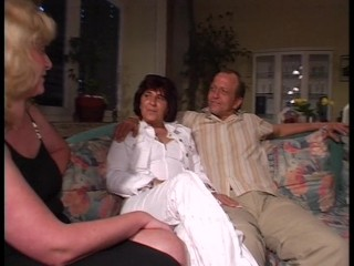 Older Couple Get Naked And Roll Couch...