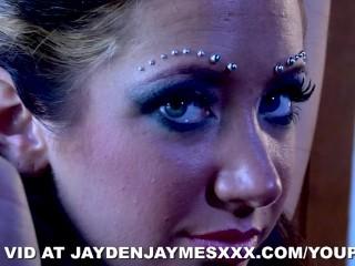 Jayden fucks in fishnets...