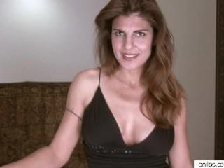 Classy housewife stuffs panties in...