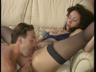 Hot brute in sexy blue underwear relieves some stress. (Clip)