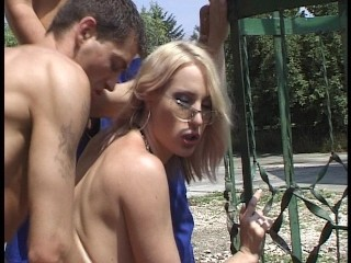 Sexy gaping outside