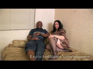 Chubby w big ass in interracial video...