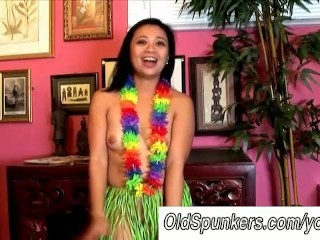 Sexy milfs hawaiian hula dance and squirting pussy...