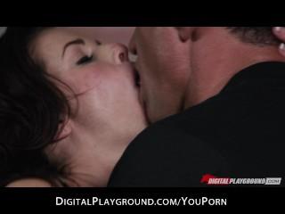 Busty sex goddess loves riding her man s big dick...