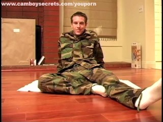 Sexy Military Boy Stripping And Jerking Off...