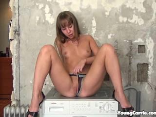 Hottie spreads her legs camera...