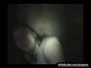 Midnight threesome milf wife...