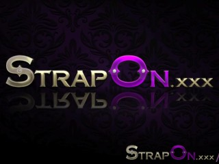 StrapOn Hot tub lesbian strap on dildo orgasms...