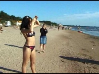 Be beach can t keep these downn nudists...