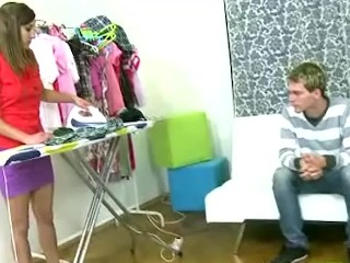 Horny seduced his sons girlfriend while he was away
