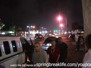 Teens spring break clubbing upskirt thongs...