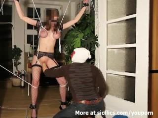 Brutally Fisted Busty Slut In Bondage...