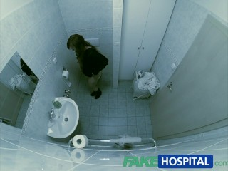 Fakehospital spying on hot young babe having special treatment from pov creampie...