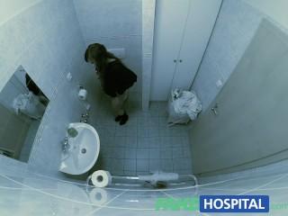 FakeHospital G spot massage gets hot brunette wet...