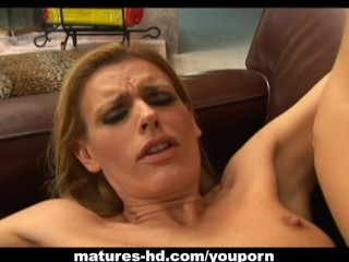 Milf blonde has her fun with a cock