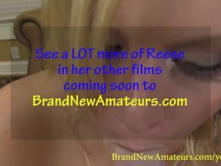 Brandnewamateurs blonde southern belle reese swallows...