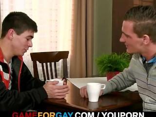 Hetero guy is seduced by a gay...