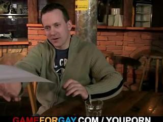 Hetero barman gets gay...