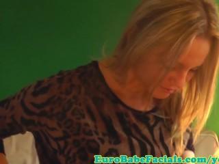 Blonde Facial Loving Skank Facialized...