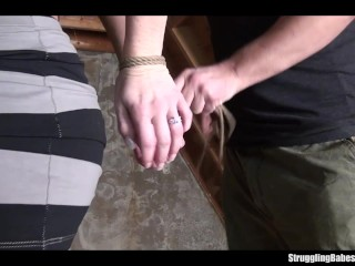 Ally bound ballgagged stripped whipped...