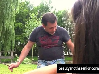Beauty teen athina gets fucked outside by dude...